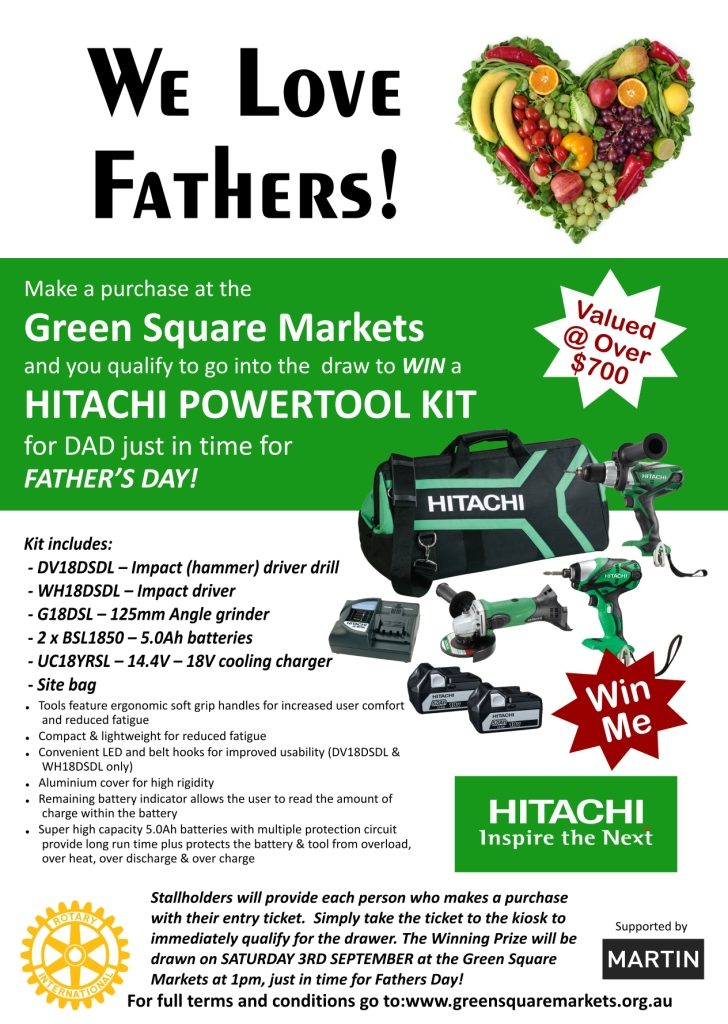 Hitachi Great Giveaway For Father's Day!